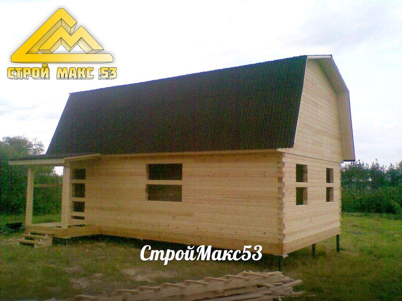 деревянный дом по проекту 20б