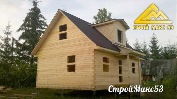 Деревянный дом под усадку