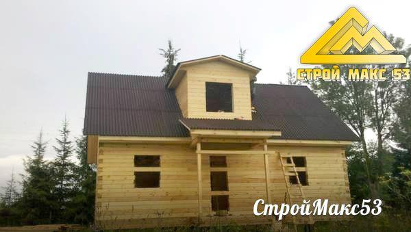 Дом из бруса в Псковском районе