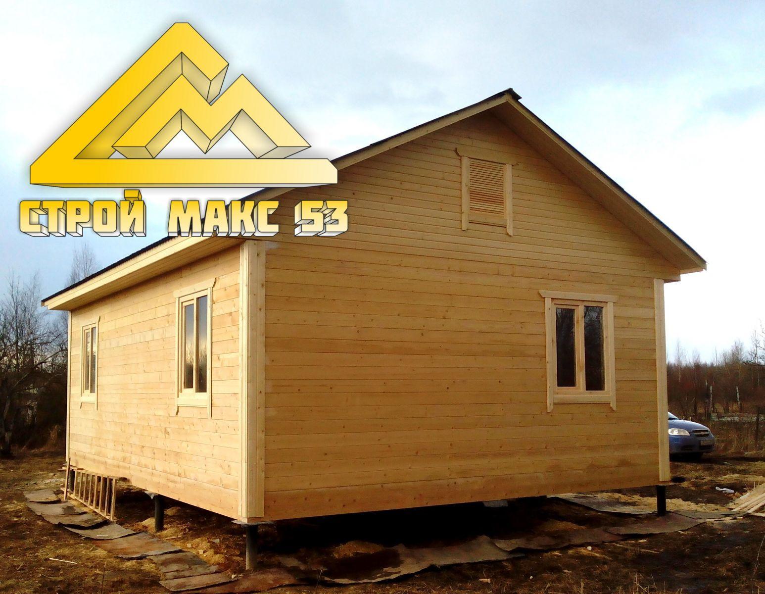 брусовой дом по проекту 28-Б