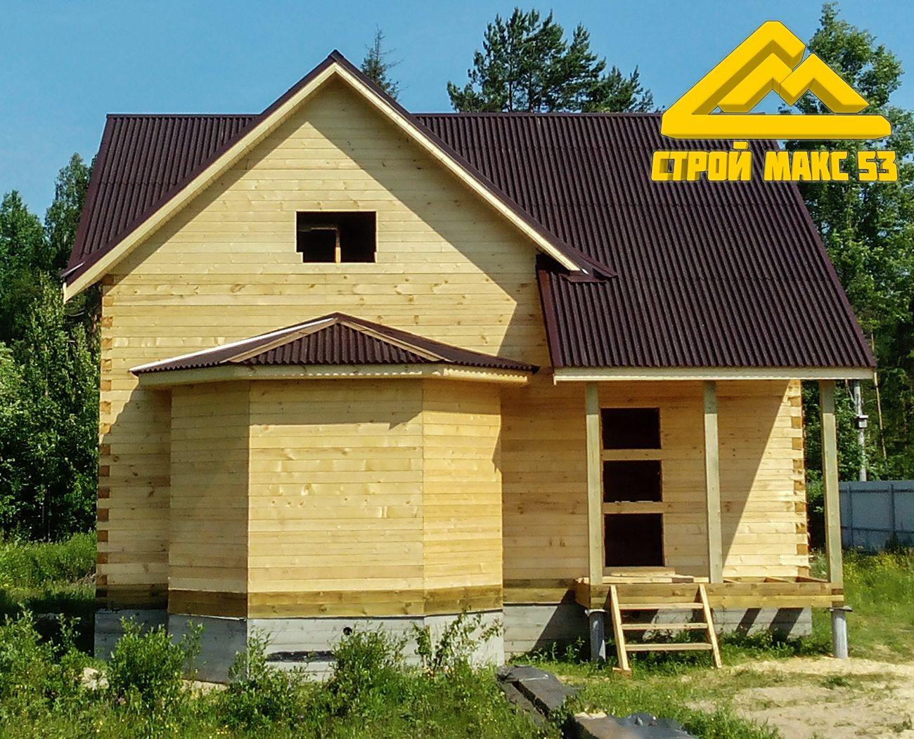 дом из бруса по индивидуальному проекту