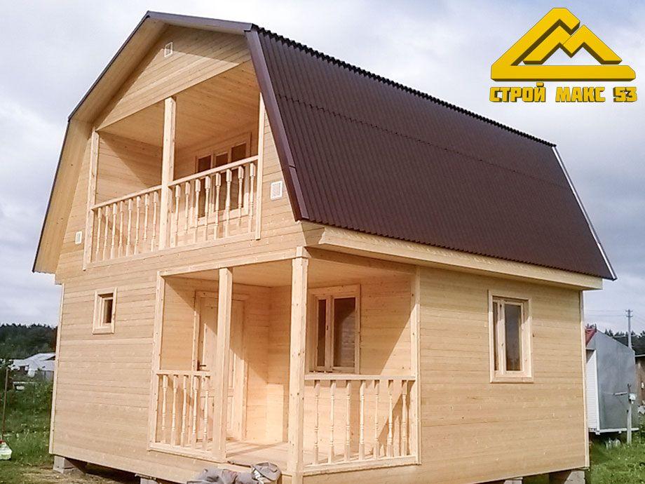 мансардный дачный дом