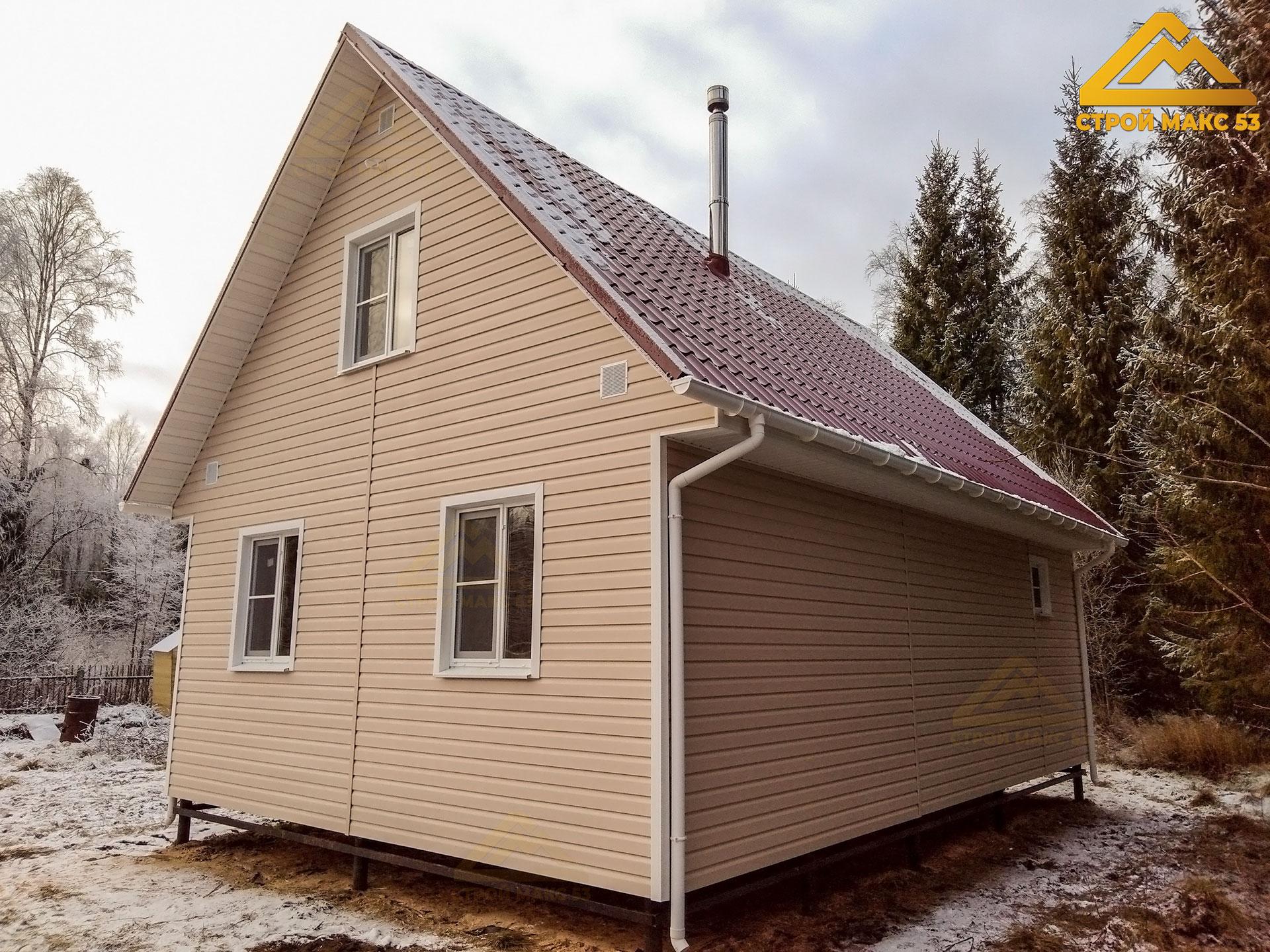 фото 2 каркасного дома 6 на 9 под ключ по проекту №16-Б