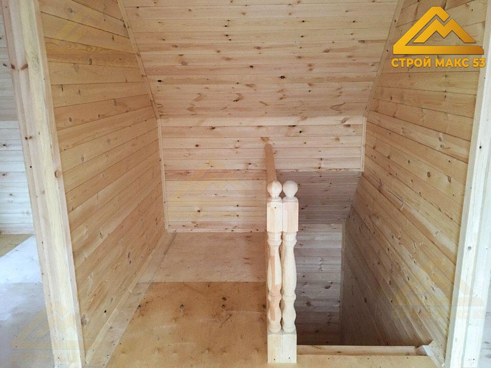 фото 1 отделки каркасного дома по проекту №16-Б