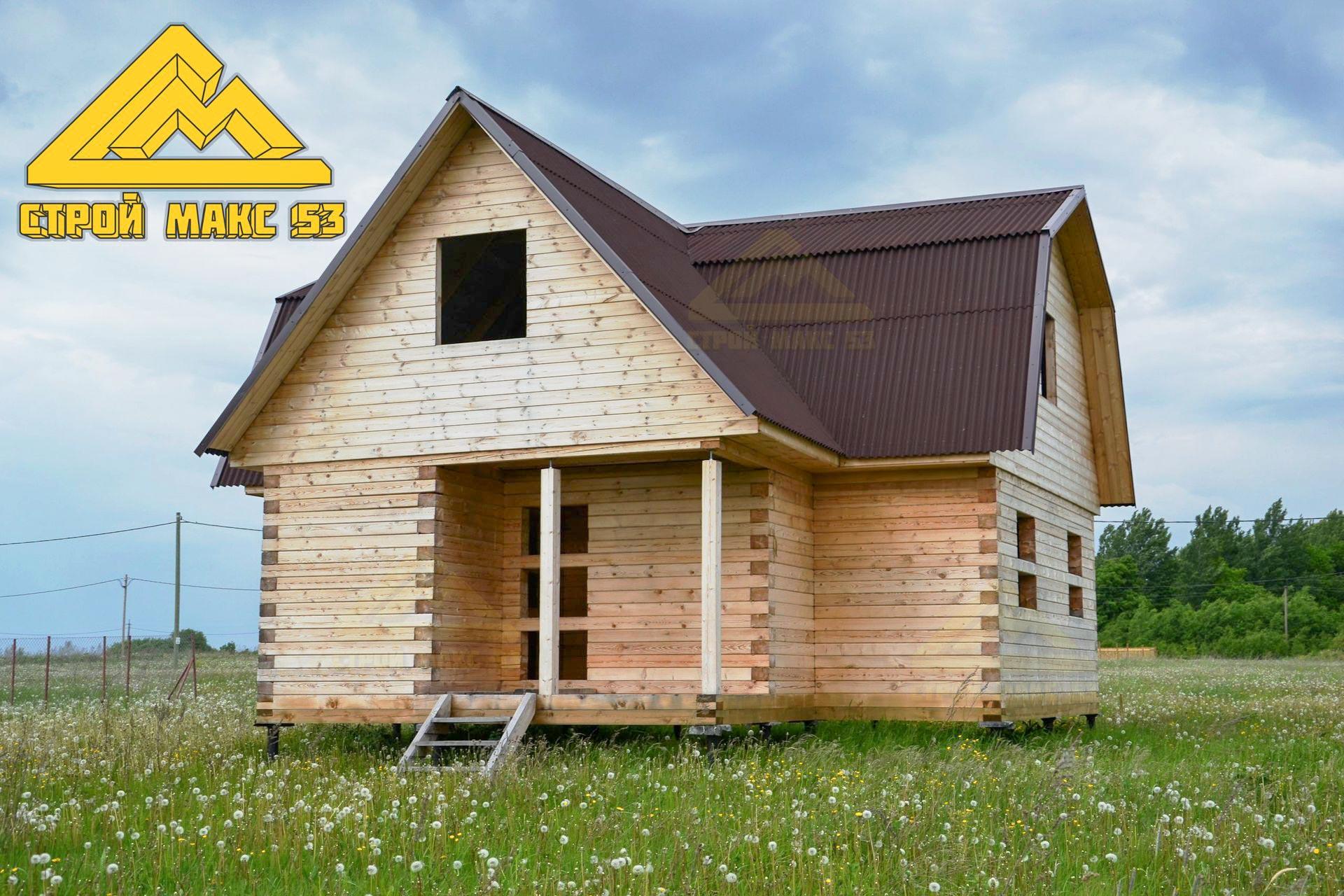 дом из бруса по проекту 08-Б