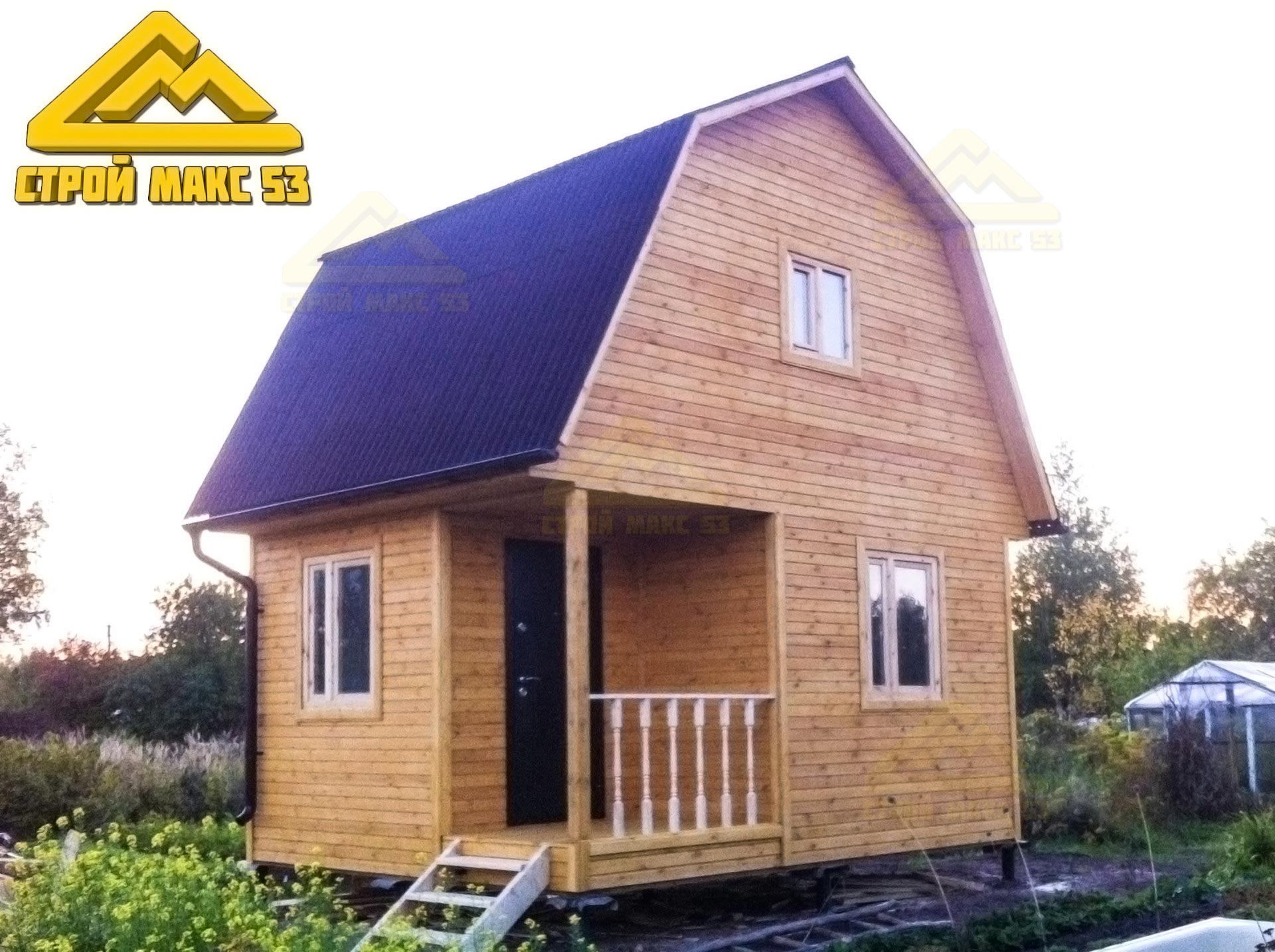 каркасный дачный дом