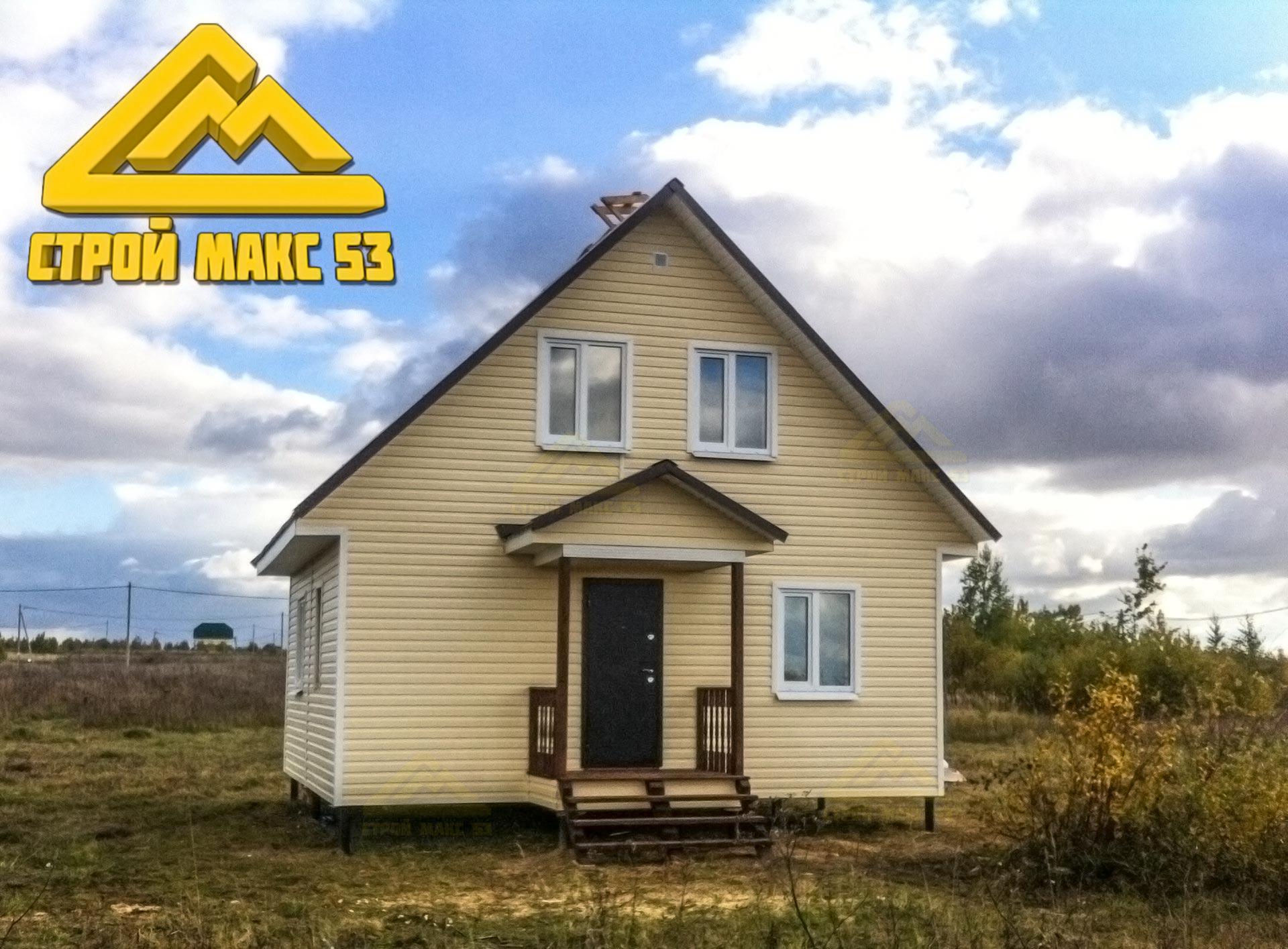каркасный дачный дом 6x7
