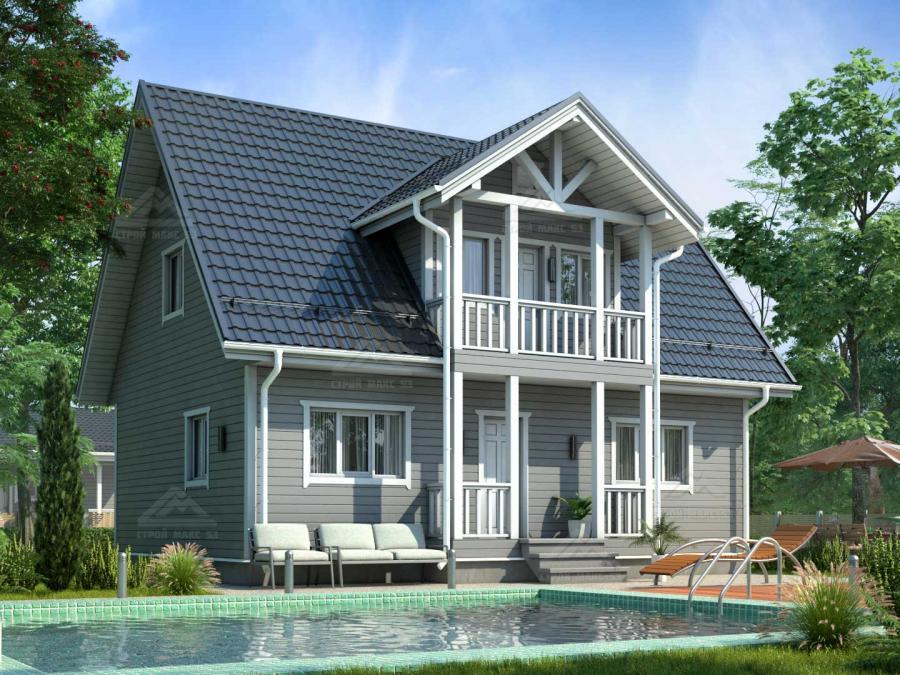 проект финского двухэтажного дома 10 на 8