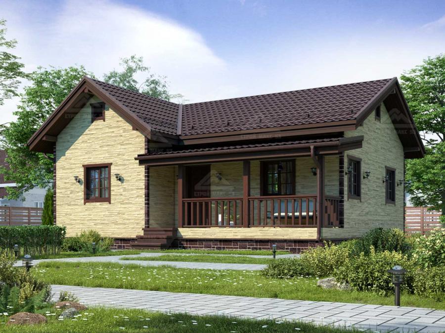 финский одноэтажный каркасный дом под ключ