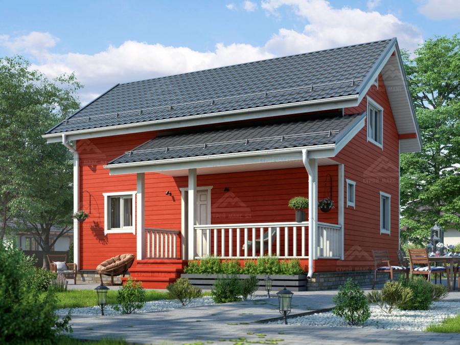 проект финского дома 6 на 9 с террасой