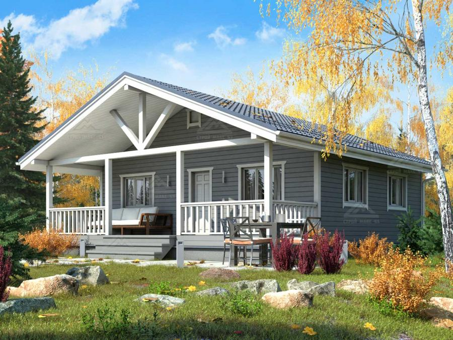 проект финского одноэтажного дома 9 на 10