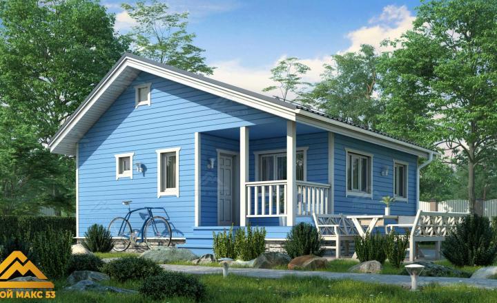 финский дом 8 на 8 с террасой