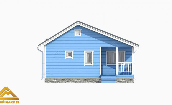 3-д модель фасада финского одноэтажного дома
