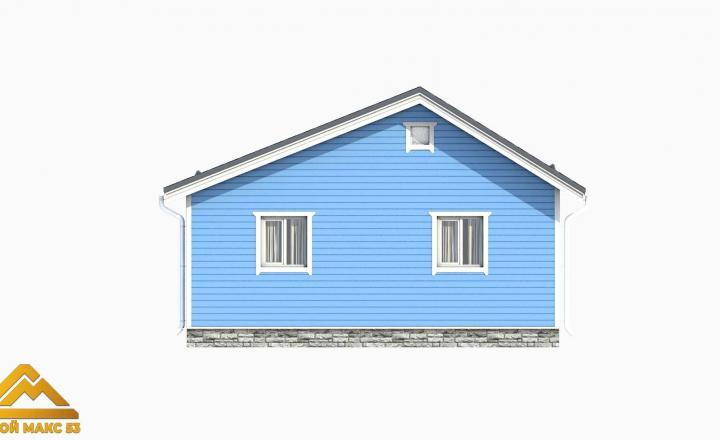 модель 3D финского дома 8 на 8 вид сбоку