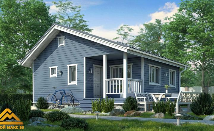 финский дом с террасой под ключ