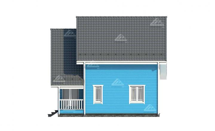 изображение финского каркасного дома под ключ цены сбоку