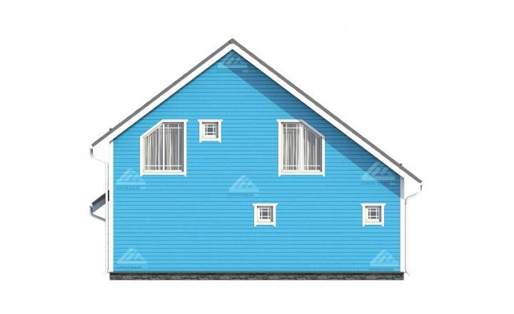 изображение финского каркасного дома под ключ цены сзади