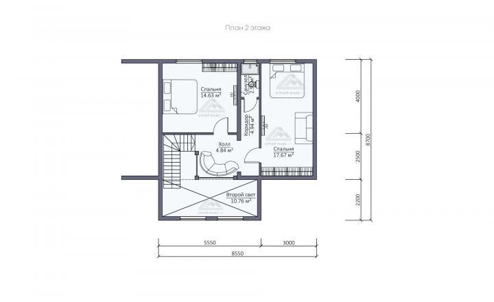 планировка финского каркасного дома под ключ в СПб второй этаж