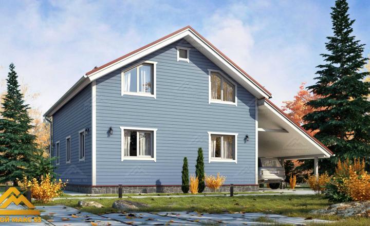двухэтажный финский дом 10 на 8