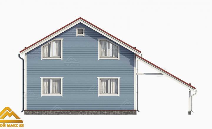 3д-проект двухэтажного финского дома