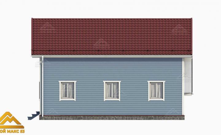 3-д проект финского дома с гаражом