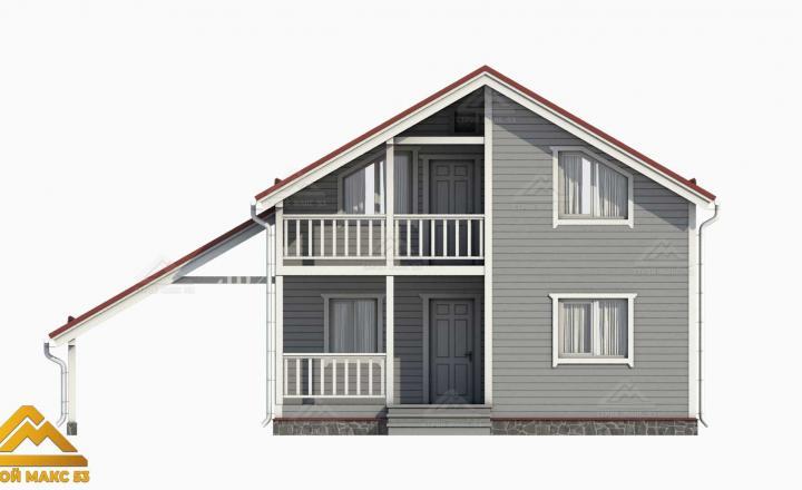3-д визуализация финского дома с гаражом