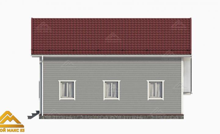 3D-проект финского дома с гаражом сбоку
