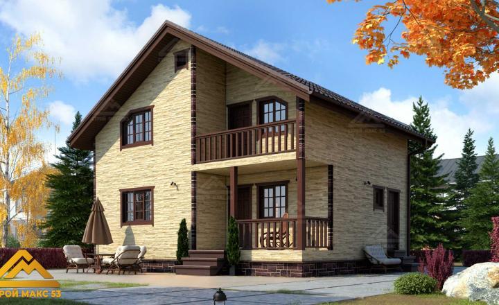 финский дом 7 на 9 купить отделка камень фасад