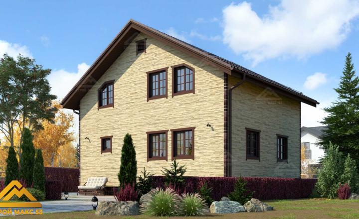 финский дом 7 на 9 купить отделка камень задний фасад
