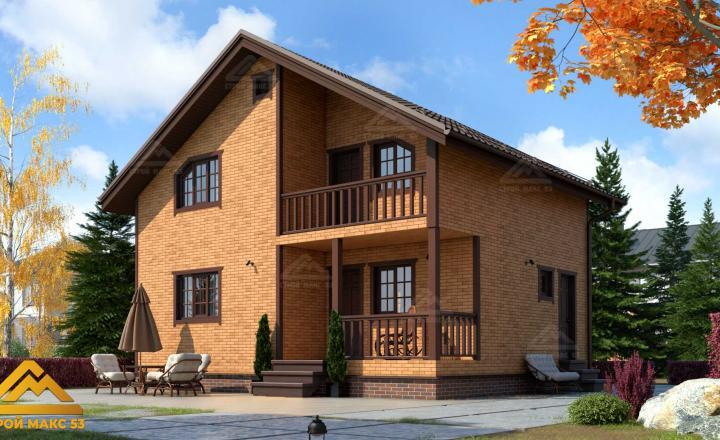 финский дом 7 на 9 купить отделка кирпич фасад