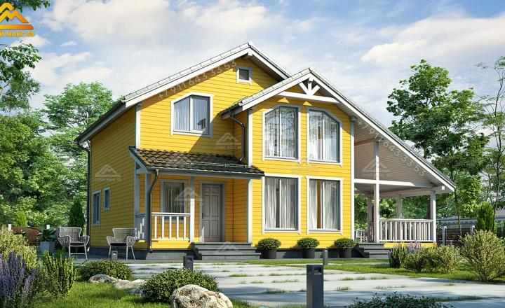 каркасный дом по финской технологии в Санкт-Петербурге