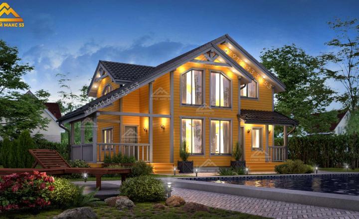 двухэтажный каркасный дом под ключ СПб
