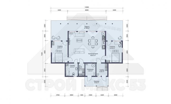 планировка каркасного зимнего дома под ключ