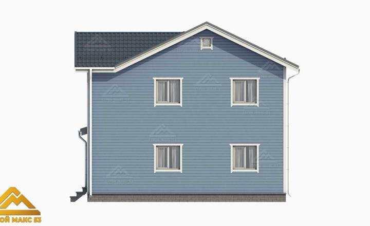финский дом 10х8 3-д графика вид сбоку