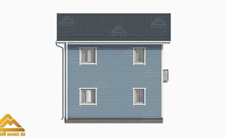 двухэтажный финский дом вид сзади проект 3д