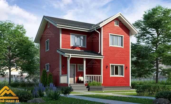 финский двухэтажный дом под ключ