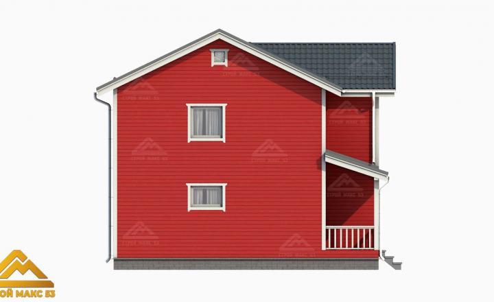 проект 3-д финского дома 10 на 8