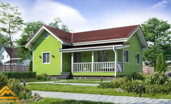 одноэтажный финский дом 10 на 8 под ключ