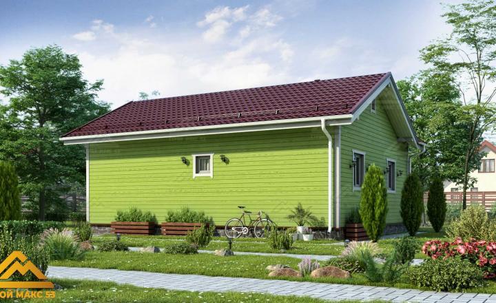 одноэтажный финский дом 10х8