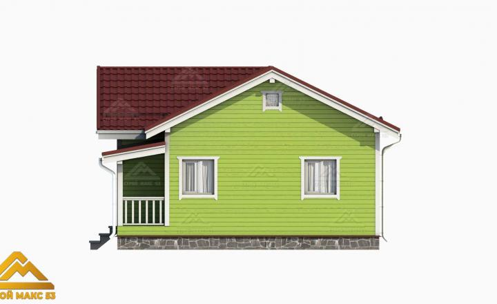 3-д визуализация финского дома с террасой 10 на 8