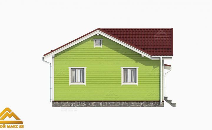 проект 3-д финского одноэтажного дома 10 на 8