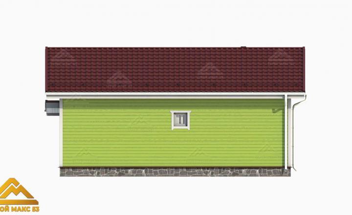 3-д графика фасада финского одноэтажного коттеджа