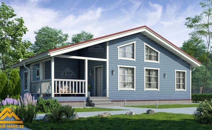 финский дом со вторым светом