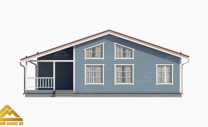 финский дом со вторым светом 3-д визуализация