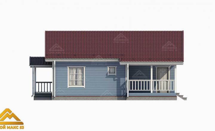3-д проект финского дома 10х12 вид сбоку