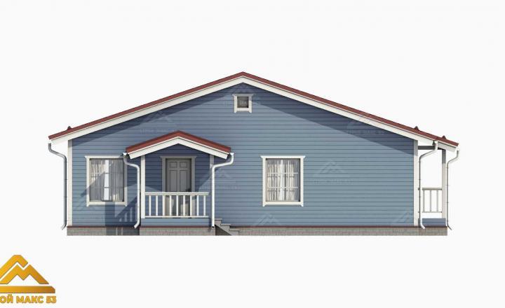 графический рисунок фасада финского дома вид сбоку