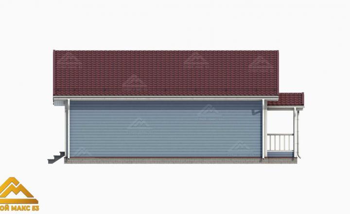 3-д модель фасада финского дома вид сзади