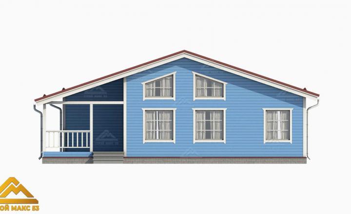 3-д проект финского дома со вторым светом