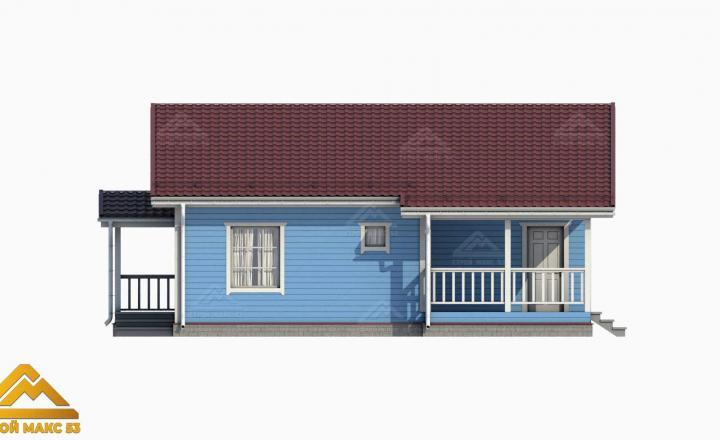 3D-модель финского дома со вторым светом сбоку
