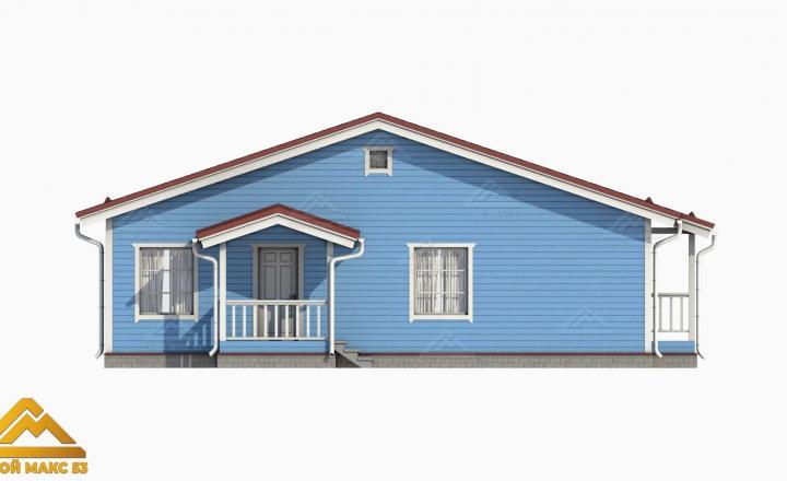 3-д изображение финского дома со вторым светом вид сбоку
